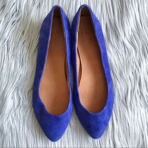 MADEWELL 1937 Royal Blue Suede Flats - Size 9